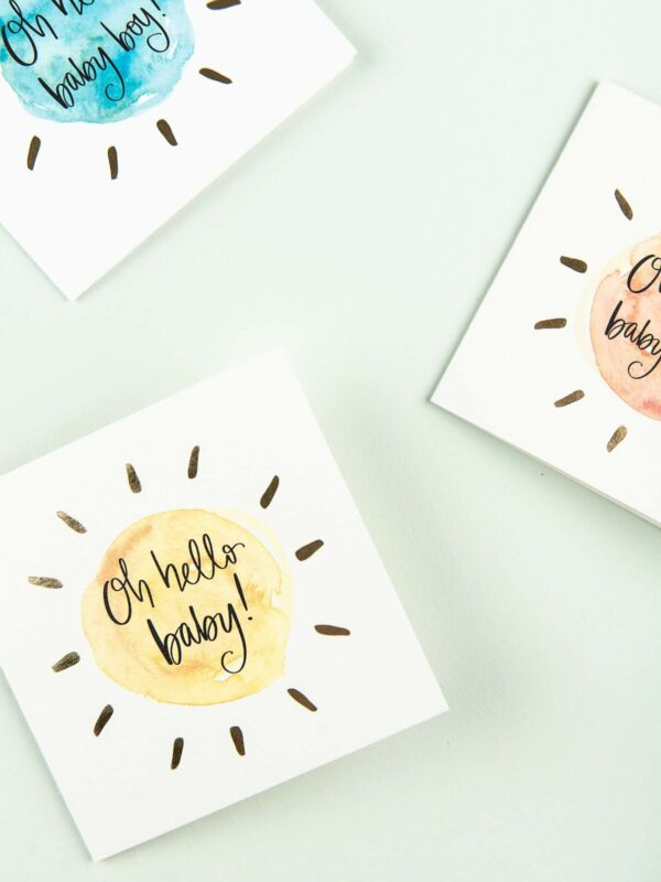 Selection of baby cards - oh hello baby!