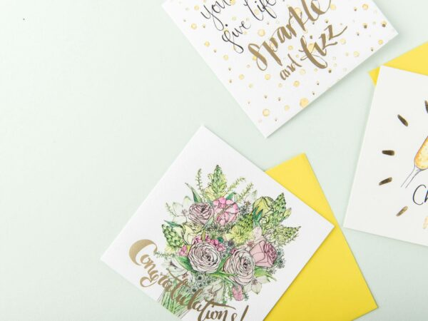 Selection of Sunshine for Breakfast celebration cards