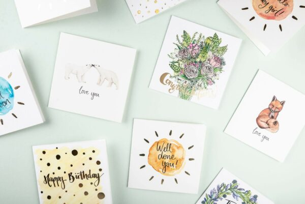 Selection of Sunshine for Breakfast greeting cards