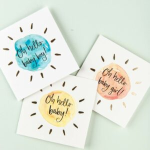 Oh hello baby cards - baby girl, baby boy, gender neutral baby