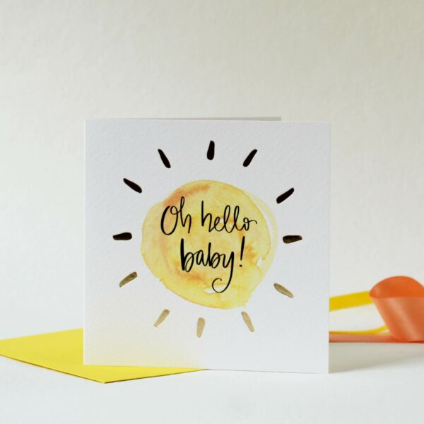 Oh hello baby - greeting card