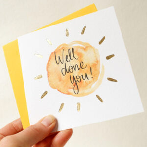Well done you! greeting card