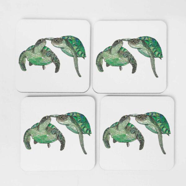 4 turtle coasters