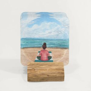 meditating by the sea - set of coasters