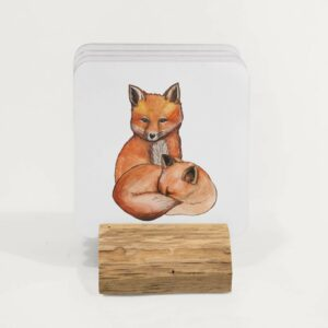 4 foxes coasters