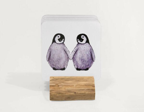 4 penguin coasters