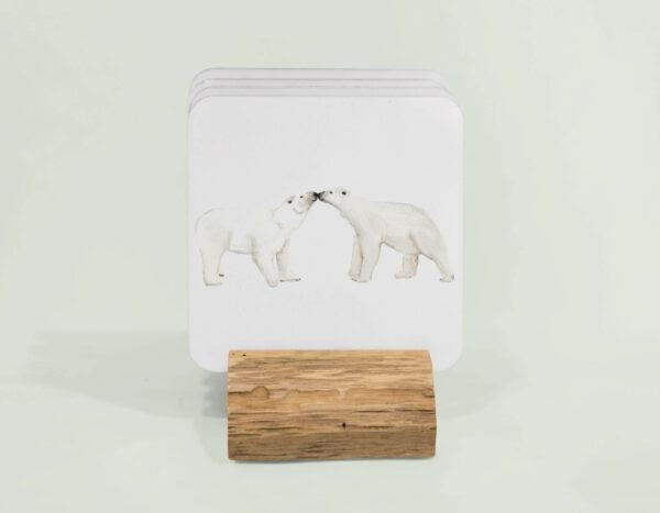 4 Polar bear coasters