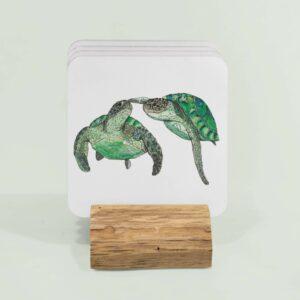 Turtle couples - 4 coasters