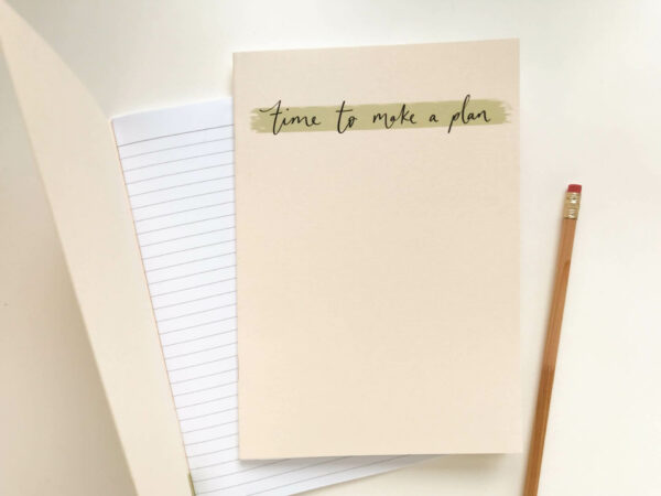 A5 time to make a plan notebook in minimal design
