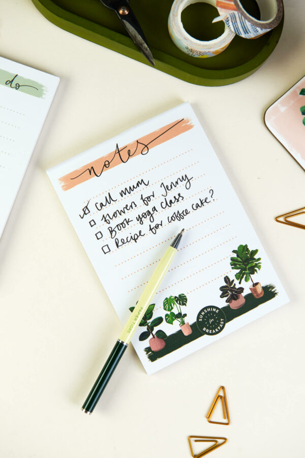 illustrated a6 house plants notepad