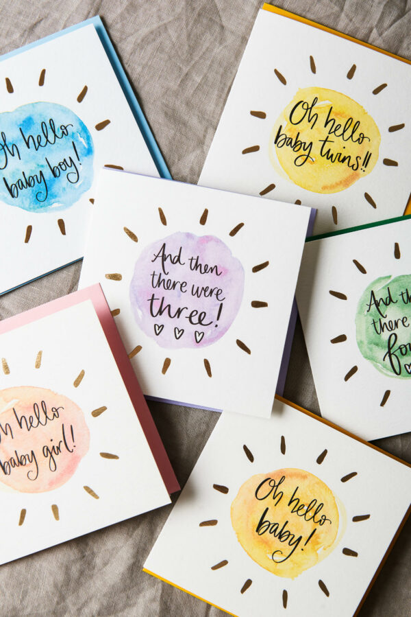 New baby greeting cards by Sunshine for Breakfast