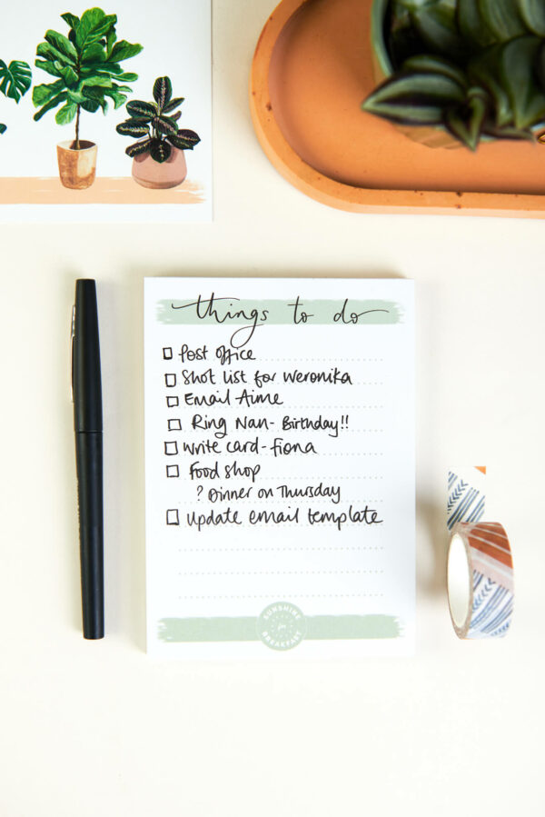 things to do notepad with action list